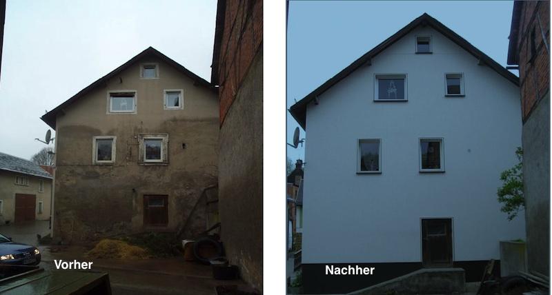 Fassade vorher nachher  Fassade bekleiden mit Vinytherm
